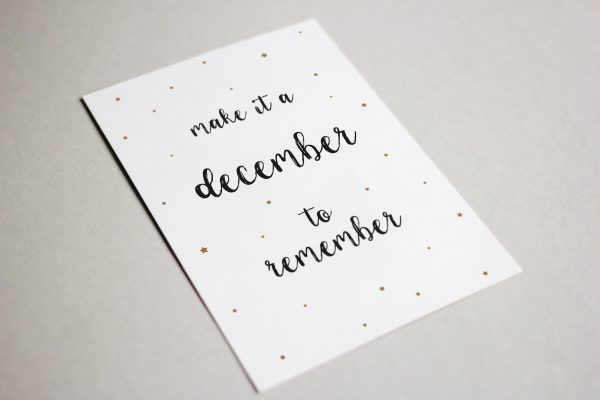 Kaart - Make it a december to remember
